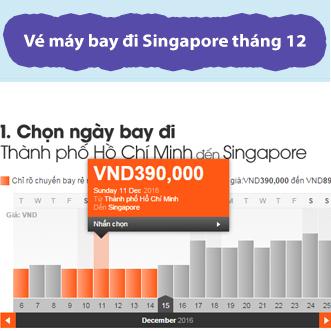 Vé máy bay tết 2017 giá rẻ đi Singapore