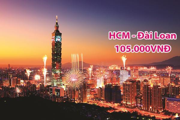 Vé máy bay đi Đài Loan giá rẻ: 105.000VNĐ