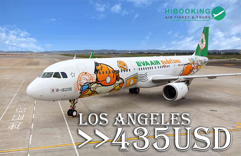 Vé máy bay hãng Eva Air đi Mỹ từ 435 USD
